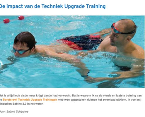 Screenshot van blog Techniek Upgrade - Foto: Personal Swimming