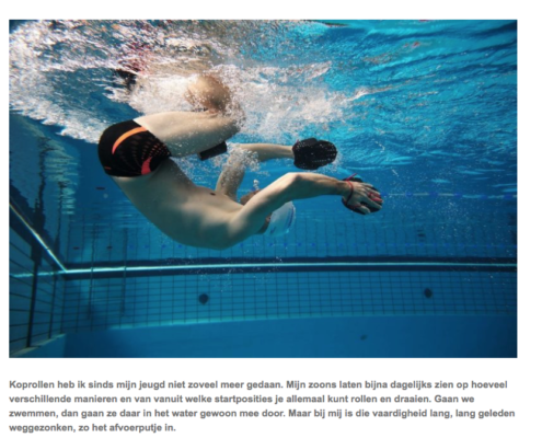Screenshot van blog Keerpunt Cursus - Foto: Personal Swimming